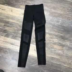 Alo Yoga Black Moto Highwaisted Leggings